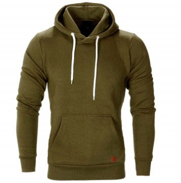Drop Shipping Hoodie Men's Long Sleeve Solid Color Hooded Sweatshirt Men's Hoodie Casual Sportswear Asian Size Free Shipping-novahe