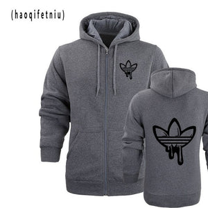 Fashion Roger Federer RF Print Hoodies Men Casual Hip Hop Long Sleeve Mens zipper Hoodie Sweatshirts Man Hoody Clothing-novahe