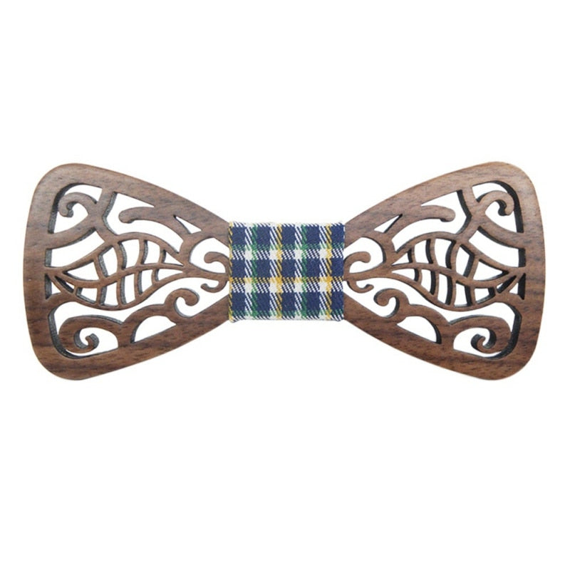 Wood Bow Tie Mens Wooden Bow Ties Gravatas Corbatas Business Butterfly Cravat Party Ties For Men Wood Ties-novahe