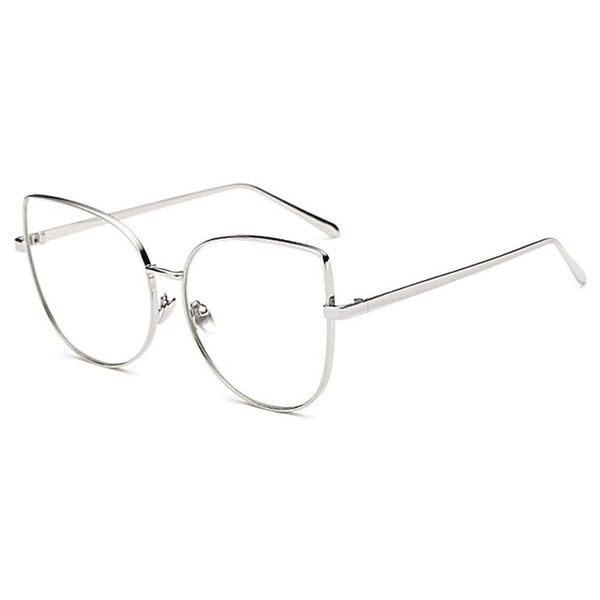 f760504eb9 ... Oversized Cat Eye Eyeglasses Optical Myopia Glass Frames For Women Transparent  Clear Eyewear Frame Spectacles Retro