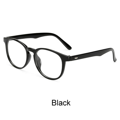 Ralferty Unisex Vintage Round Eye Glasses With Clear Lens, Women Men Plain Mirror Prescription Myopia Optic Frame Eyeglasses-novahe