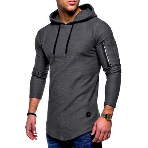 Fashion Men Hoodies Autumn Long Sleeve Hooded Sling Sweatshirt Casual Zip Solid Color Male Pullover Hip Hop Top Moletom L-XXXL-novahe