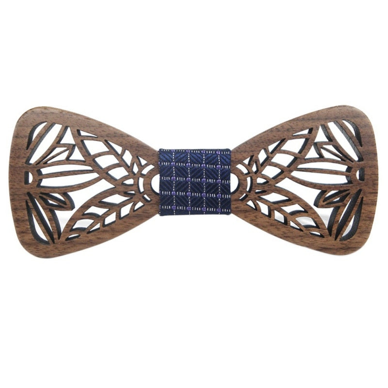Wood Bow Tie Gentle MEN Wooden Bow Ties Gravatas Corbatas Business Butterfly Cravat Party Ties For Men Wood Ties-novahe