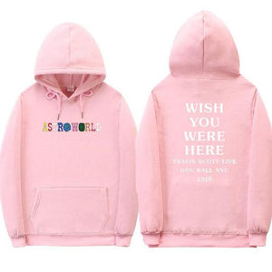 Travis Scott Astroworld WISH YOU WERE HERE hoodies fashion letter print Hoodie streetwear Man and woman Pullover Sweatshirt-novahe
