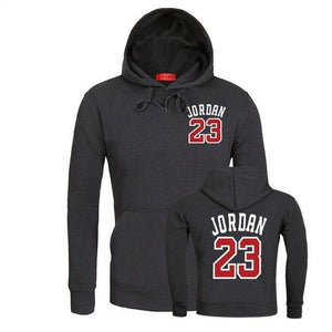 Autumn Winter Fleece Jordan 23 Men Hoodie Letter Print Loose Sweatshirt Mens Fashion Leisure Black Long Sleeve Hoodies Male Tops-novahe