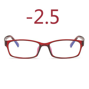 0 -1 -1.5 -2 -2.5 -3 -3.5 -4 -5 -6 Finished Myopia Glasses Men Short-sight Eyewear Black Transparent Frame Women Myopia Glasses-novahe