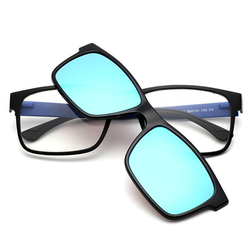 TR90 Optical Eyeglasses Frame Men Women Clip On Magnets Polarized Sunglasses Myopia Glasses Spectacle Frame For Male YQ189-novahe