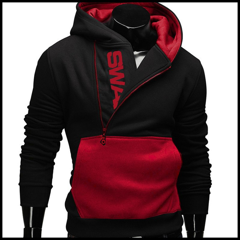 winter autumn Men Brand Pullover Letter Print black Hoodie Sweatshirt Tracksuit Hooded male cutton down Jacket Coat clothing-novahe
