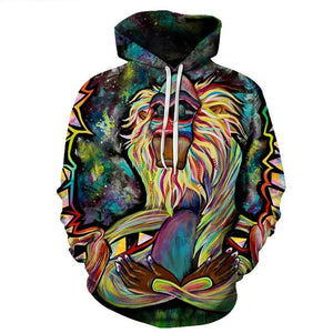 Meditating Rafiki Men Women Hoodies Sweatshirts Men Tracksuits 3d Printing Pullover Funny Hoody Hooded Coat Harajuku Drop Ship-novahe