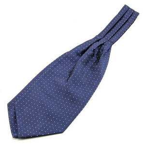 Ikepeibao New Men's Polka Dots Woven Jacquard Ascot Tie Cravat British Neck Tie Jacquard Self Tie for Wedding Party-novahe