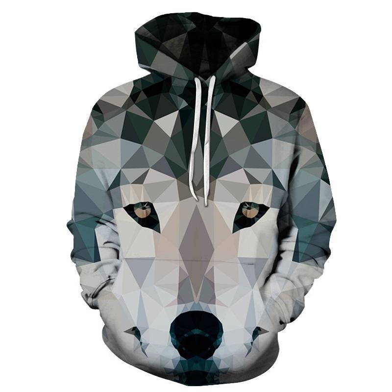 Diamond Wolf Printed 3D Hoodies Men Sweatshirts Animal Hooded Pullover Fashion Autumn Tracksuit Male Hoodie Hot 6xl Quality New-novahe