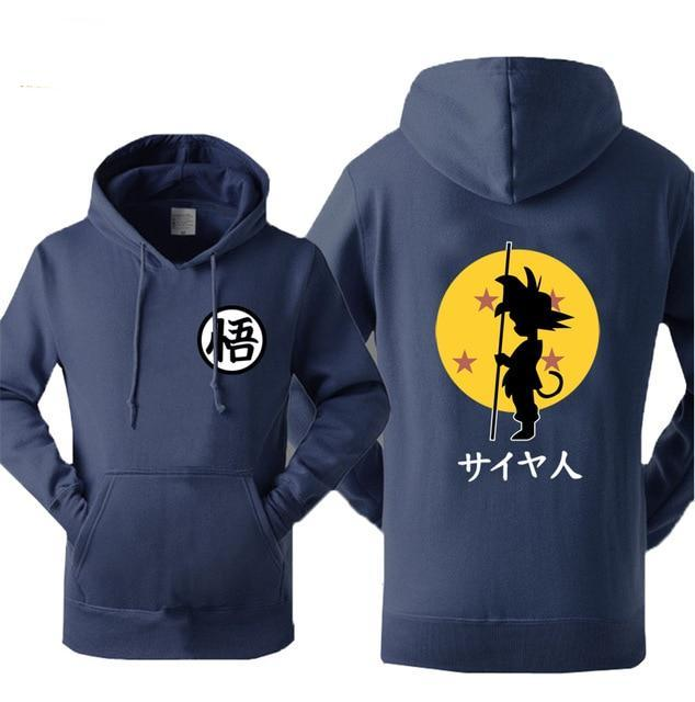 Dragon Ball Anime Fashion Print 2018 Autumn Winter Fleece Sweatshirts For Men Hoody Z Tops Brand Tracksuit Men's Sportswear Hot-novahe