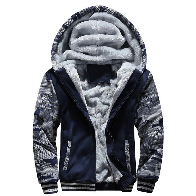 Winter Soft Men Hoodies, Sweatshirts Velvet Fleece Warm Men's Jackets Coats Solid Casual Tracksuits Homme Hoodies Thick Hoody-novahe