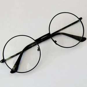 2 Styles Fashion Unisex Metal Frame Eyeglasses Retro Round Circle Original Clear Lens Men Women Eye Glasses-novahe