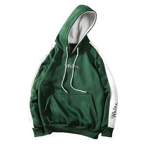 2018 Autumn White Hoodies With Hat Men Big Pocket Street Autumn Fashion Casual Hiphop Clothing Hoody Pullover Hoody Clothing-novahe