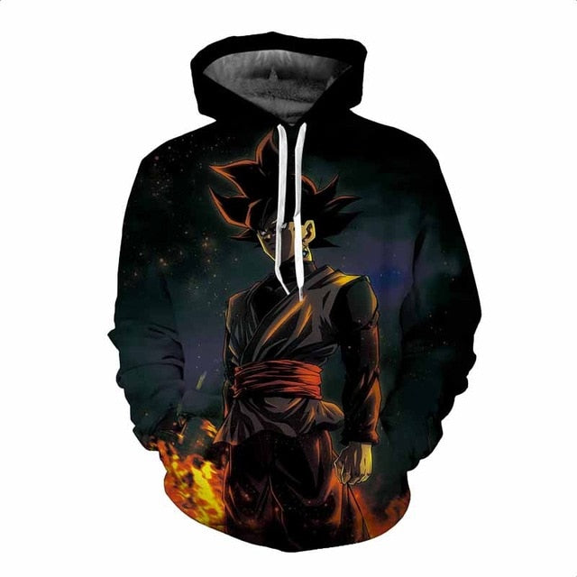 Anime Dragon Ball Z Hoodies 3D Print Pullovers Sweatshirts Super Saiyan Son Goku Black Zamasu Jiren Casual Tops Outfit-novahe