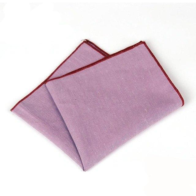 Brand New Men's Hankerchief Scarves Vintage Like Linen Hankies Men's Suits Pocket Square Handkerchiefs Solid Color 23*23cm-novahe