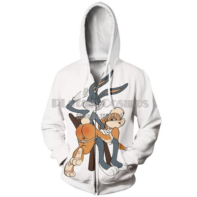 PLstar Cosmos men women harajuku hoody Bugs Bunny/Pokemon/Teddy Bear print 3d sweatshirt hoodies outdoors S-5XL Drop Shipping-novahe