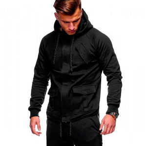 2018 Fashion Hoodies Men Sudaderas Hombre Hip Hop Mens Brand Solid hooded zipper Hoodie Cardigan Sweatshirt Slim Fit Men Hoody-novahe