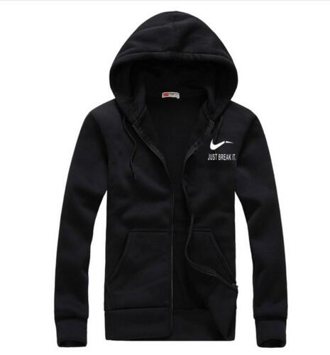 Autumn New Arrival High JUST BREAK IT Printed Sportswear Men Sweatshirt Hip-Hop Male Hooded Hoodies Zipper Pullover Hoody-novahe