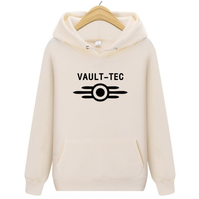 Vault Tec logo Gaming Video Game Fallout 2 3 4 Hoodie Tops pullover Hoody Men classic Casual Apparel Fashion Hoodie Hoody Vault-novahe