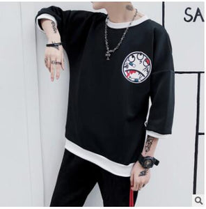 A substitute for the 2018 fall men's wear new print leisure hoodie youth popular logo print round collar jacket for men-novahe