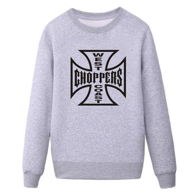 WEST COASTS chopper printed sweatshirt new hoodies long sleeves O-neck men's sportswear for men large size-novahe