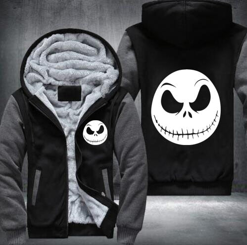 undertale game Winter Cosplay movie character Jack Skellington Hoodie devil men Tops Casual Thicken Zipper USA size S-5XL-novahe