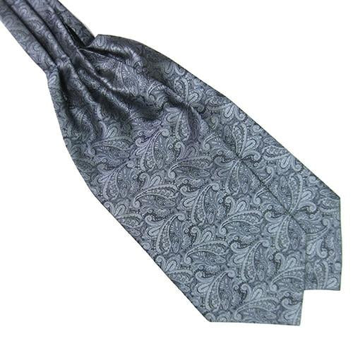 Men Classic Vintage Colorful Silky Satin Wedding Formal Banquet Necktie Cravat Ascot Scrunch Tie Self British style Gentleman-novahe