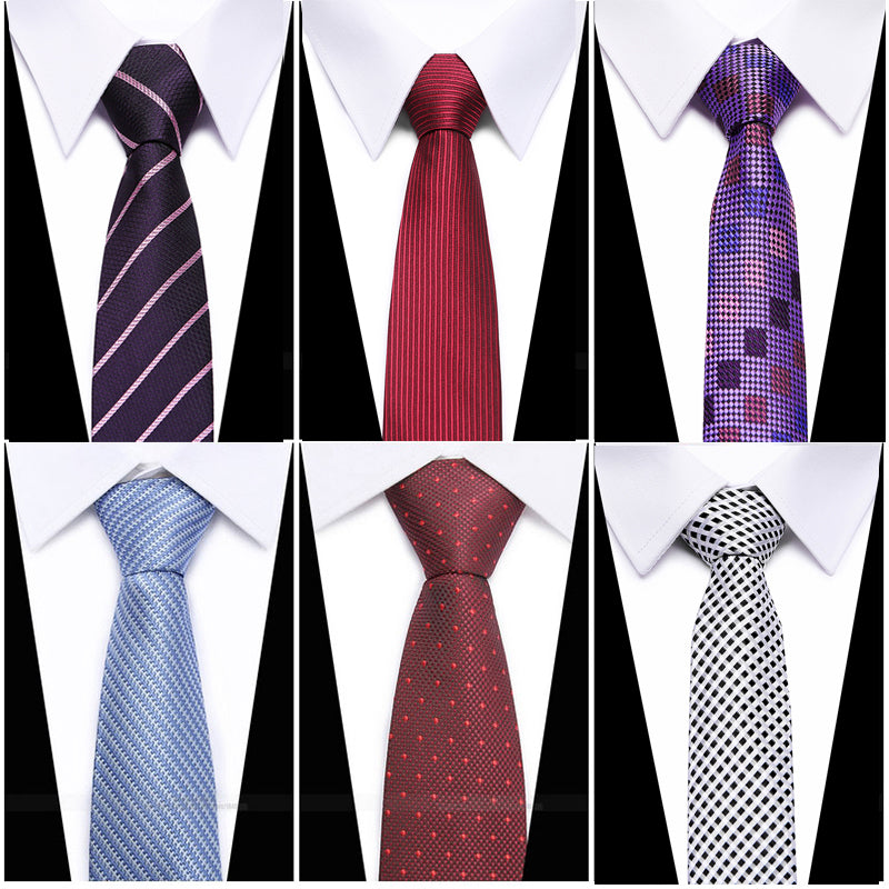 2016 Luxury 6.5cm classic Men's Skinny Ties Striped Print Slim Vintage Bridegroom Costomes silk Necktie Narrow Neck tie-novahe