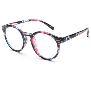 Kaleidoscope Glasses Glasses Frame New Retro Fashion Literary Small Fresh Round Glasses Frame Luxury For Men And Women-novahe