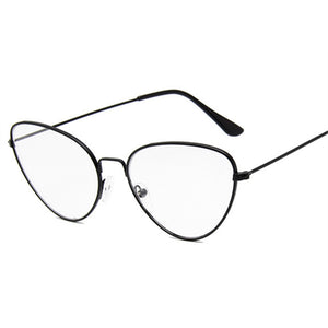 4dbd4a4d9c0f Clear Lens Cat Eye Glasses Frame Women Men Metal Frame Glasses Brand  Designer Optical Glasses Retro