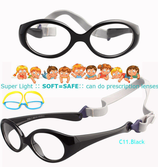 IVSTA with Strap 0-5 years Small Baby Glasses for Children Eyeglasses TR90 Silicone Glasses Frames for Kids Optical Frame Soft-novahe