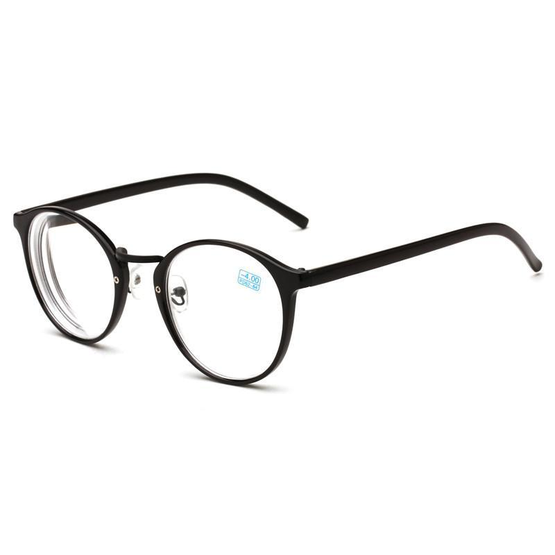 -1.0,-1.5~ -4.0Round Finished Myopia Spectacle Eyeglasses Optical Men Women Student Eyewear Prescription AC Lens Glasses Frame-novahe
