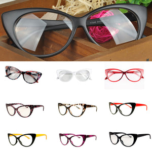 c778bc8fea749 New Designer Cat Eye Glasses Retro Fashion Black Women Glasses Frame Clear  Lens Vintage Eyewear Hot