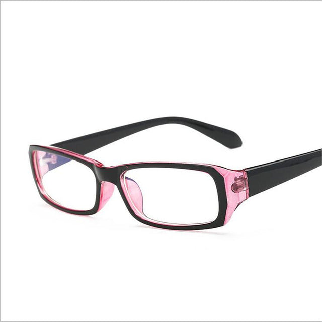 -1.0 -1.5 -2.0 to -6.0 Simple Red Frame Finished Myopia Glasses With Degree Women Men Short-sight Eyewear Frame-novahe