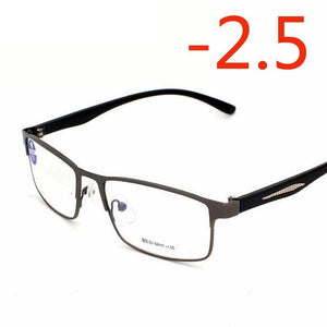 -1 -1.5 -2 -2.5 -3 -3.5 -4 To -6.0 New Finished Myopia Glasses For Women and Men Metal Frame Ultralight Students Myopia Glasses-novahe