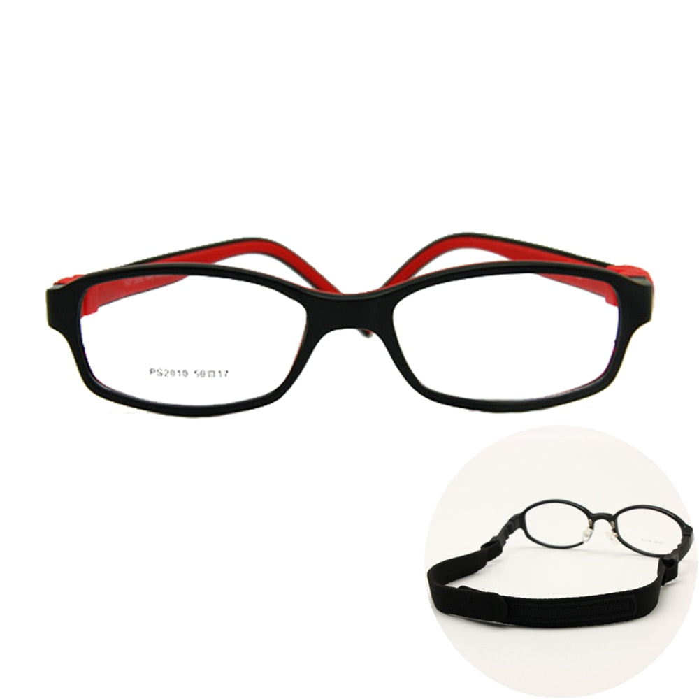 6f870d1d8d6 Boys Girls Glasses Size 50 17 No Screw Flexible Silicone Bendable Student Optical  Glasses Children