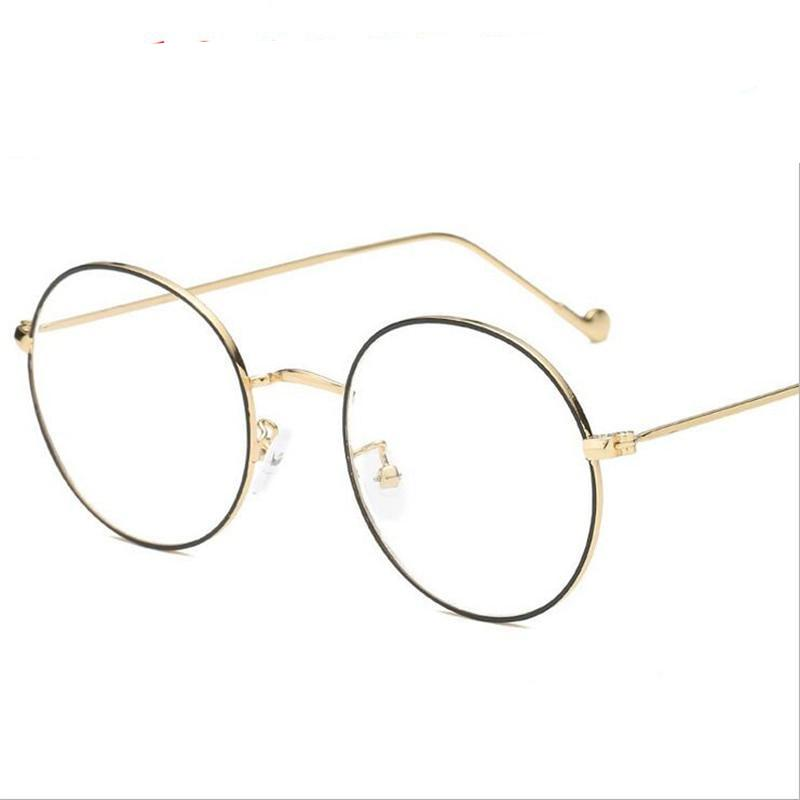-1.0 -1.5 -2.0 To -6.0 Finished Myopia Glasses For Unisex Ultra-light Metal Golden Frame Myopia Glasses with Degree-novahe