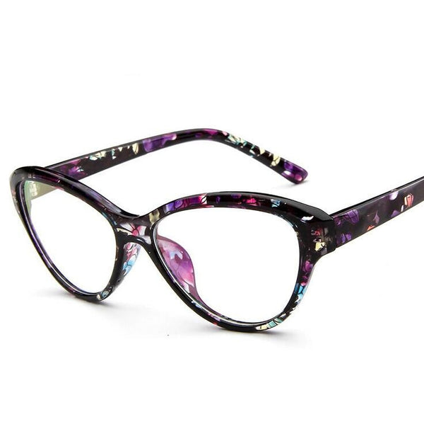 98a6e8ee88 Cat Eye Style Clear Lens Eyeglasses Frame Women Eyewear Fashion Vintage  Spectacle Optical Eye Glasses Frames ...