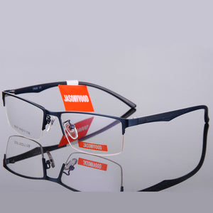 Optical Eyeglasses Frame Men Nerd Spectacle Frame Computer Eye Glasses For Male Transparent Clear Lens Armacao de YQ068-novahe