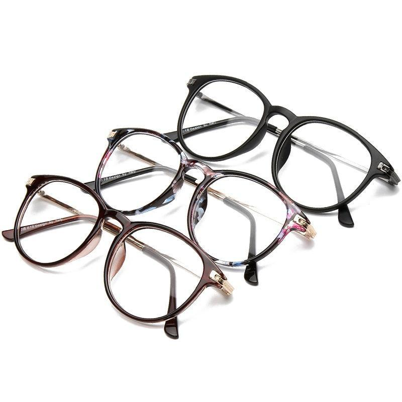 Brand Design Eyewear Frame For Women Plain Glasses Men Optical glasses Oversized Floral Round Clear Glasses grau F15001-novahe