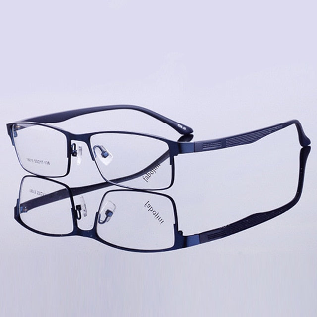QIFENG Spectacle Frame Eyeglasses Men Korean Computer Optical Myopia Eye Glasses Frame For Male Transparent Clear Lens QF151-novahe