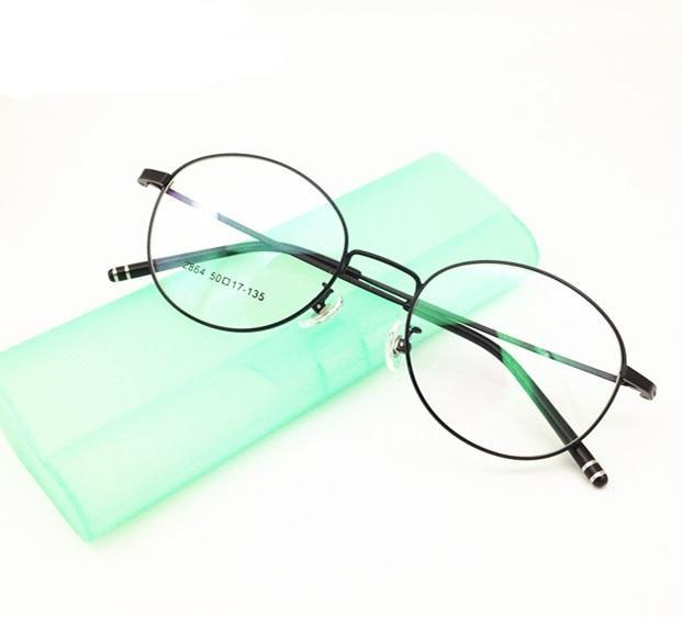 Eyesilove finished myopia glasses Nearsighted Glasses round lens shape frame short sight prescription glasses from -1.0 to -6.0-novahe