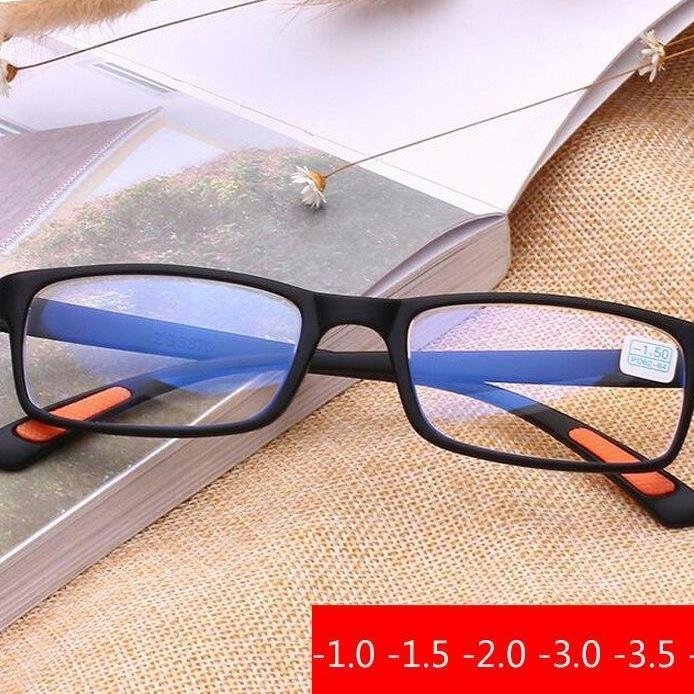 -1.0 -1.5 -2.0 -2.5 -3.0 -3.5 -4.0 TR90 Frame Myopia Glasses Blue film radiation protection Product Men Women Degree Spectacles-novahe