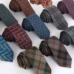 wool tie skinny 6 cm floral necktie high fashion plaid ties for men slim cravat neckties mens 2016 gravatas dos homens-novahe