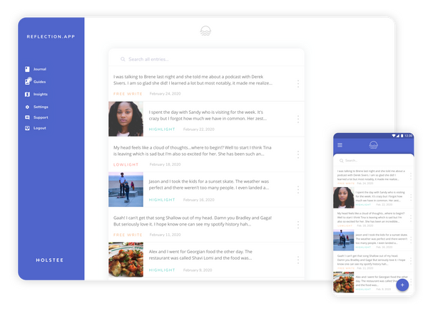 Reflection.app —A free online journal.