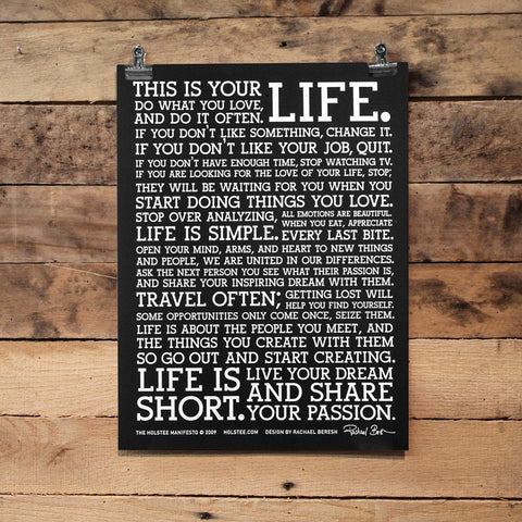 Amazon.com: LIFE MANIFESTO POSTER - The World Famous Original ...