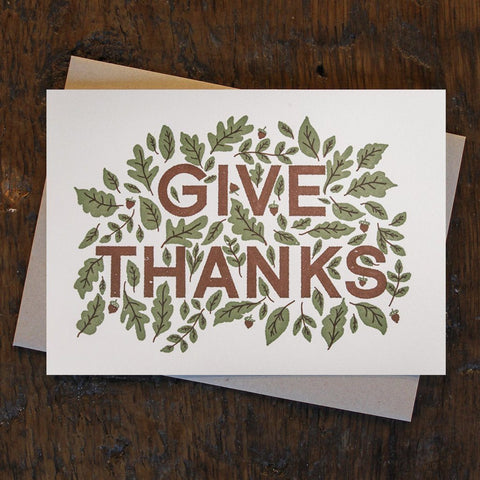 Gratitude: Give Thanks