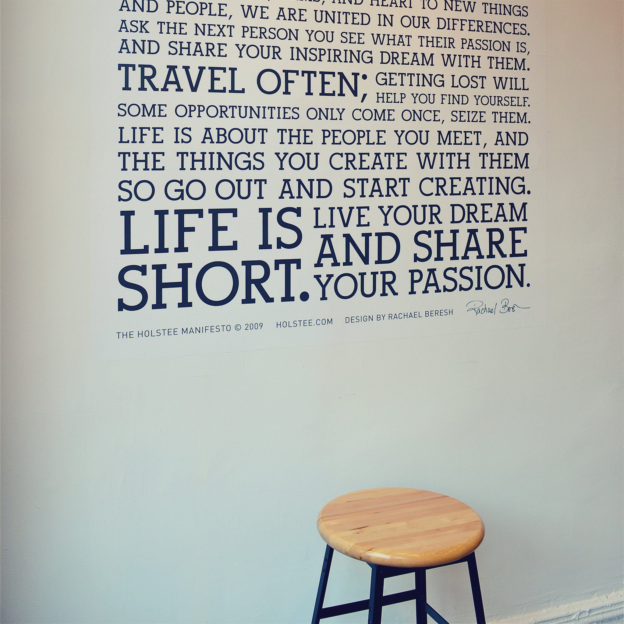 the holstee manifesto wall decal holstee holstee manifesto decal